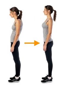 姿勢の改善